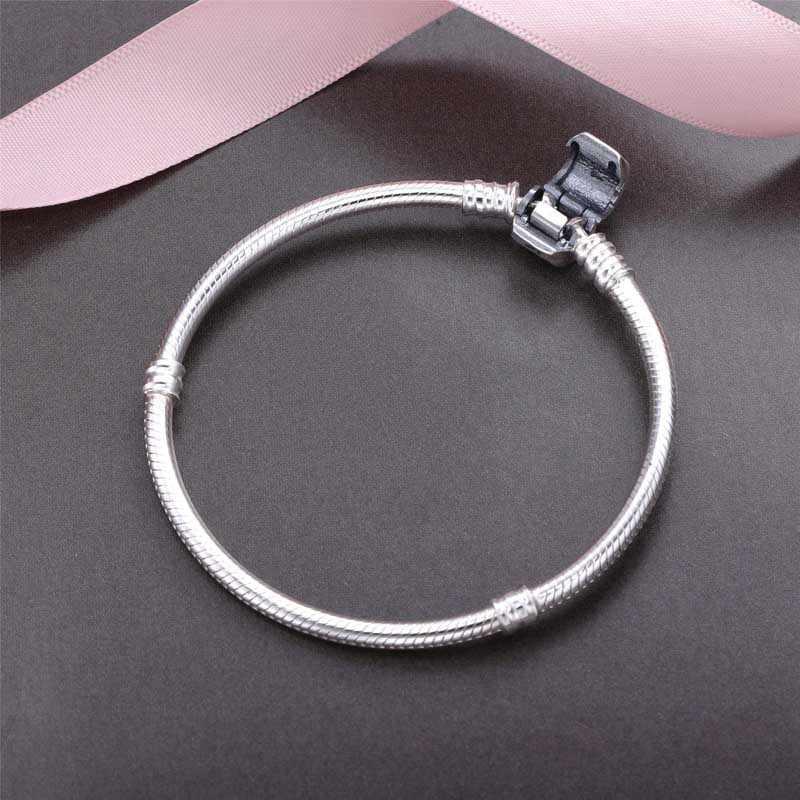 Прислали сертификат! Yanleyu 100% оригинал 925 серебро змея цепь браслеты и браслеты женские Сделай Сам бисер подвеска браслет PB027