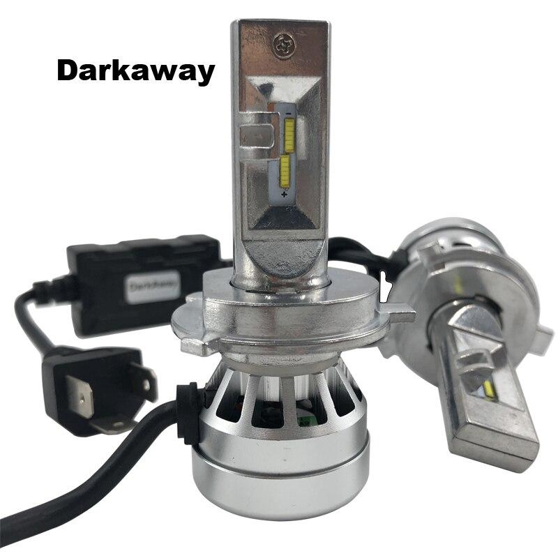 DarkAway H4 H7 LED 16000lm H1 H11 H8 HB3 HB4 H27 880 881 H3 5202 H15 D1S Phares De Voiture Auto Ampoule 72 W Blanc Froid 12 V 2a garantie