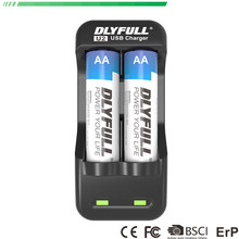 DLYFULL U2 usb aa aaa battery charger for AA AAA NiCd NiMh Rechargeable Batteries charge with LED Display(China)