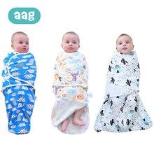 AAG Newborn Baby Sleeping Wrap Infant Bag Cotton zipper Silkworm Cocoon Swaddle Blanket Solid Color Sleepwear 25