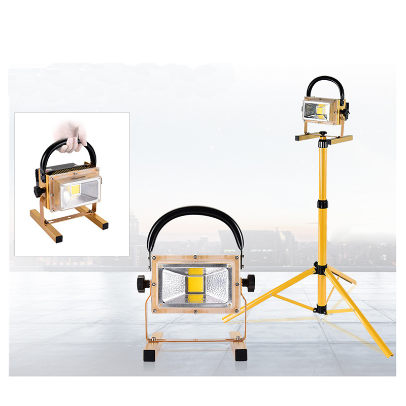LED Rechargable Portable Flood Light 30W Camping Travel Emergency DC USB Solar Panel Charging Lamp Import Chip Charging Phone
