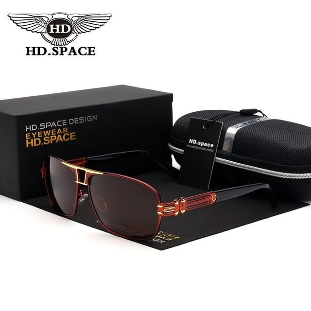15bf367d2 HD.space Brand Best Men's Sunglasses Polarized Mirror Lens Big Oversize  Eyewear Accessories Sun Glasses For Men/Women