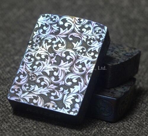 Étui à briquet huile titane TC4/coque/couverture 45g 1mm d'épaisseur en métal matériel charnière cachée motif gravé au Laser pour armure légère