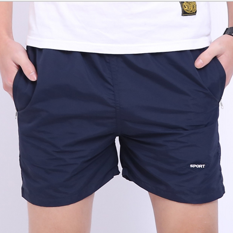 Summer Shorts Thin Section Solid Color Sdorts Men Movement One Third Mens Shorts Loose Large Size Boarc Shorts Heat