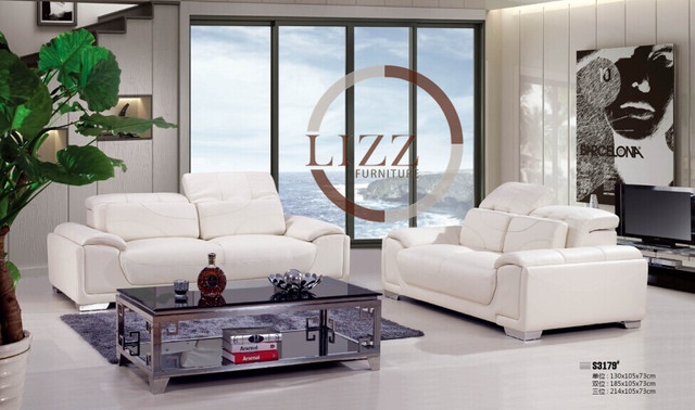 America Off White Leather Sofa White Sofa Set 3197SY