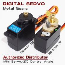 JX XP9000LV Mini Micro Servo 9g for RC 250 450 Airplane Car Boat Metallic gear 270 Control Angle Robot Digital Servo(China)