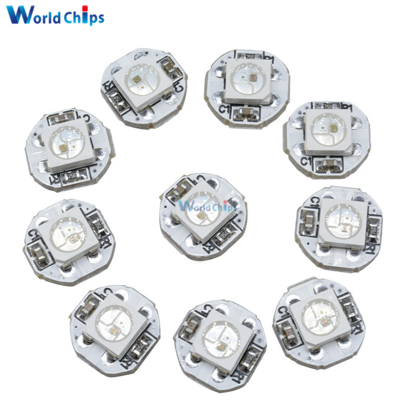 10Pcs DC 5V 3MM X 10MM WS2812B SMD RGB LED Mini PCB Board 5050 Chip Built-in IC-WS2812 Top Quality