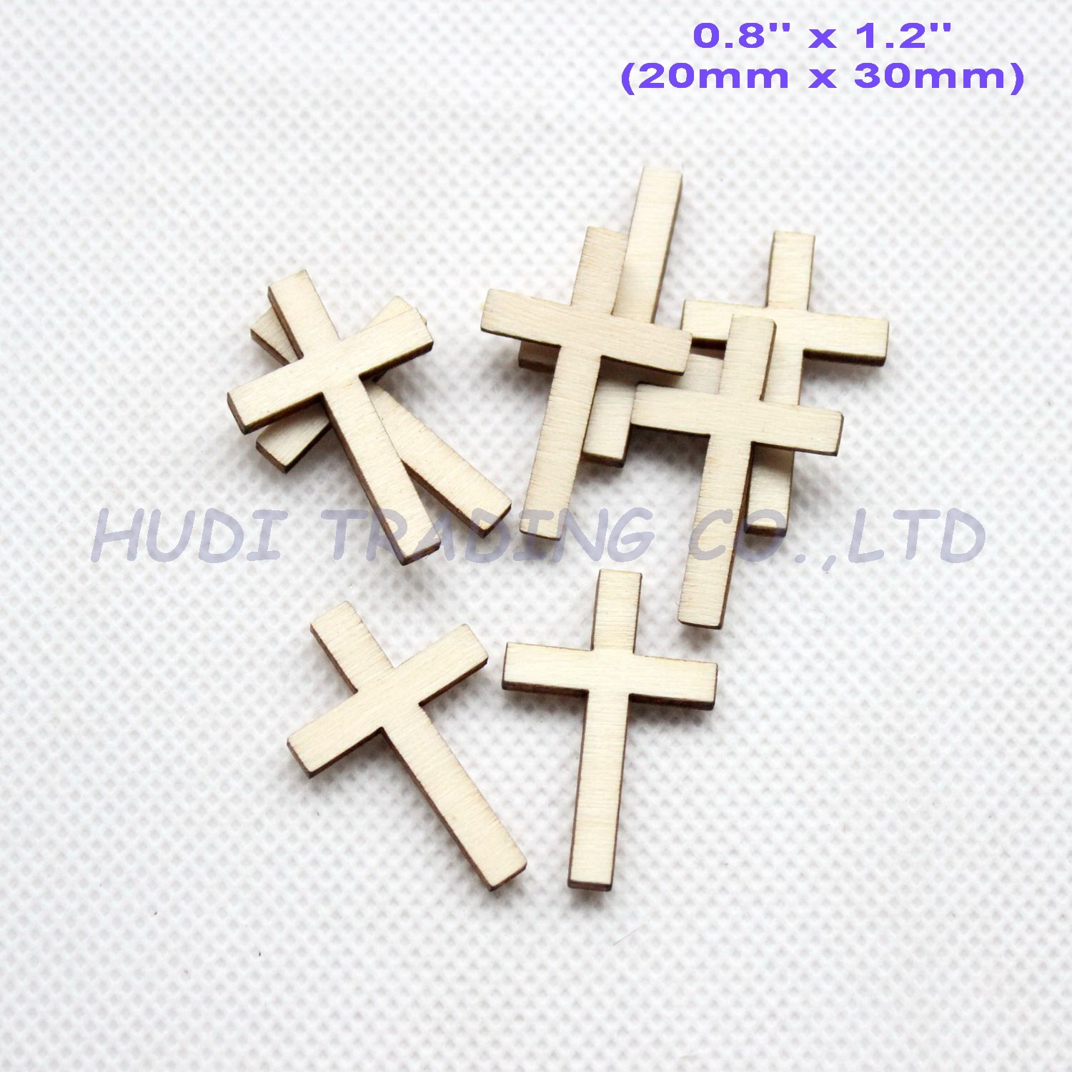 30mm Cross-Ornaments Wooden Favor-Crafts Natural Blank Rusitc 50pcs/Lot Bulk-Ct1421b