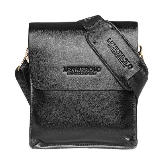 Los hombres de Moda Casual bolsa de mensajero bolso masculino de cuero genuino d