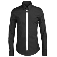 Men's French Cuff Long Sleeve Regular Fit Dress Shirts with Metal Cufflinks