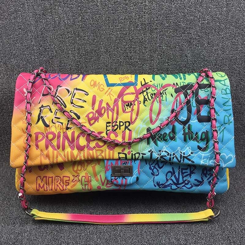 Coloré arc-en-ciel sac pour femmes 2019 grand luxe sacs à main femmes sacs Designer grand voyage sac à bandoulière femmes sacs à main dames main 3