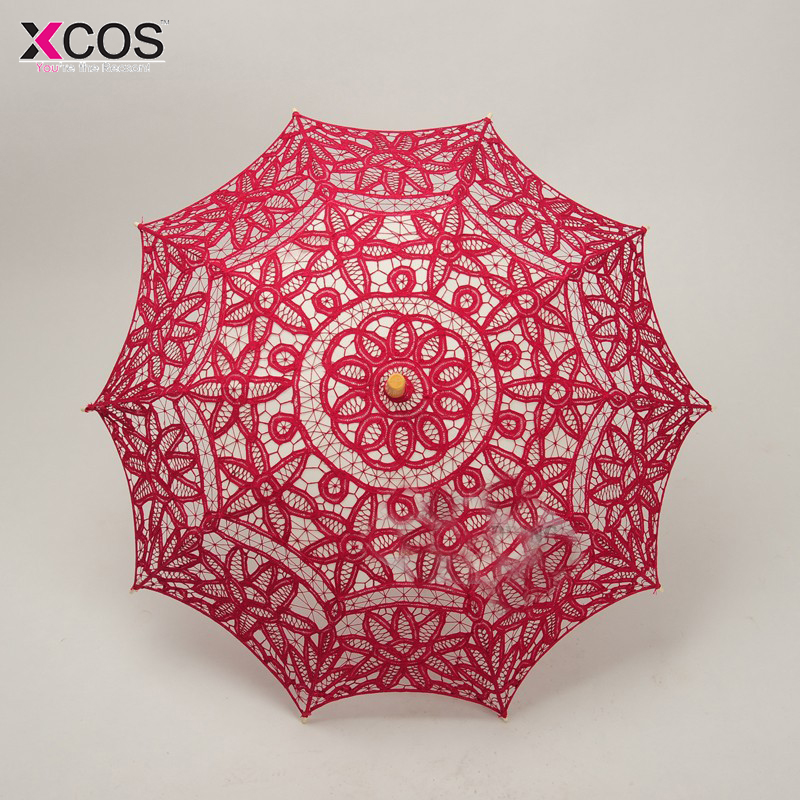 lace manual opening wedding umbrella bridal parasol umbrella accessories for wedding bridal shower umbrella free shipping