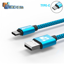 TIEGEM USB Type C Cable for Samsung S10 S9 S8  Fast Charge Type-C Mobile Phone Charging Wire Xiaomi mi9 Redmi