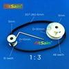 FitSain 2GT 16 48 Teeth Aluminum Alloy Pulley 1 3 Reduction Ratio Drive Synchronous Wheel Center