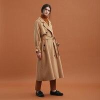 CH022 Original Design Winter Green Plaid Oversized Long Batwing Sleeved Wool Coat Woman