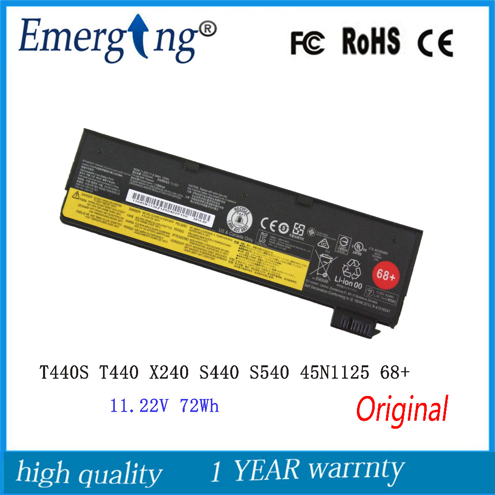 11.22V 72wh New Original Battery for Lenovo ThinkPad T440S T440 X240 S440 S540 45N1125 68+ док станция lenovo thinkpad ultra dock 90w 40a20090eu for new thinkpad t440 t540 x240