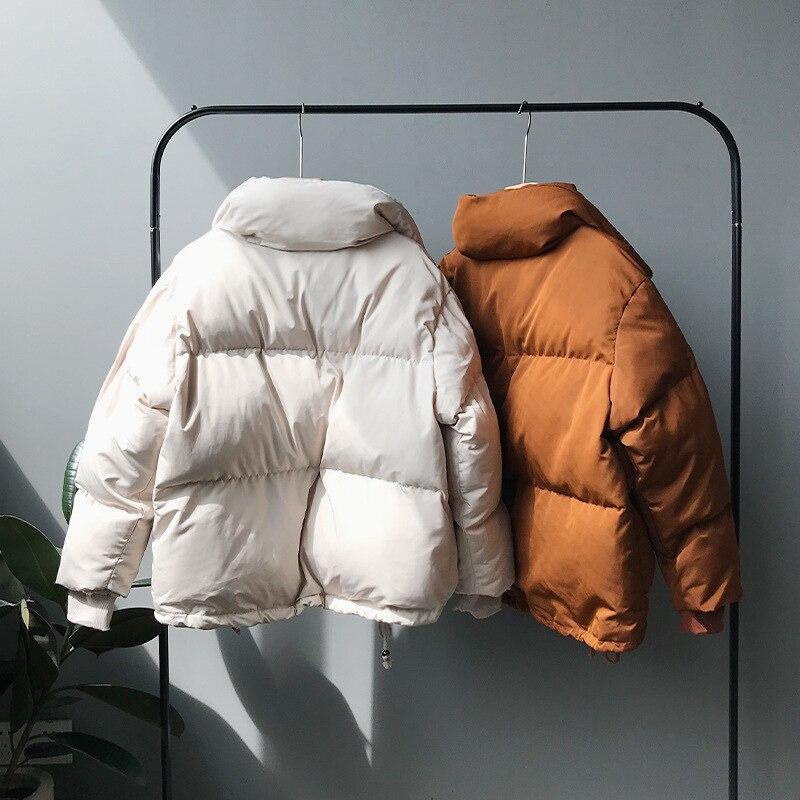 CamKemsey Thicken Women Parkas 18 New Casual Turtleneck Loose Down Jacket Female Warm Cotton Padded Winter Coat Women 3