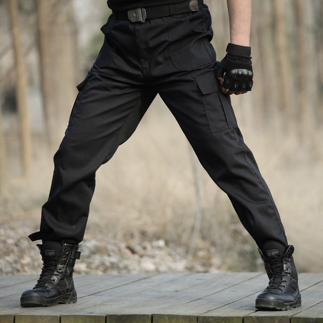 Black Military Tactical Cargo Pants Men Army Tactical ...  Black Military ...
