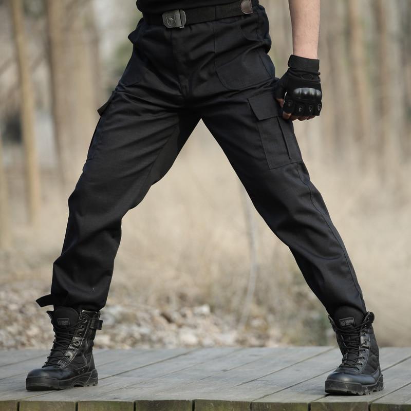 Black Military Tactical Cargo Pants Men Army Tactical Sweatpants Men's Working Pants Overalls Casual Trouser Pantalon Homme CS