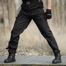 Czarny wojskowy Tactical Cargo Spodnie męskie Armia taktyczne spodnie wysokiej jakości czarny pracujących mężczyzn Pant Odzież Pantalon Homme CS tanie tanio Pełna długość Zamek błyskawiczny Fly Midweight Casual Spodnie cargo Płaskie Regularne Poliester od 2 4 do 3 0 Kieszenie