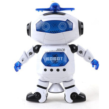 360 Rotating Electric Intelligent Robot Dancing Toys Musical  Walk Lightenning Dance Toy Model Child Birthday Gift