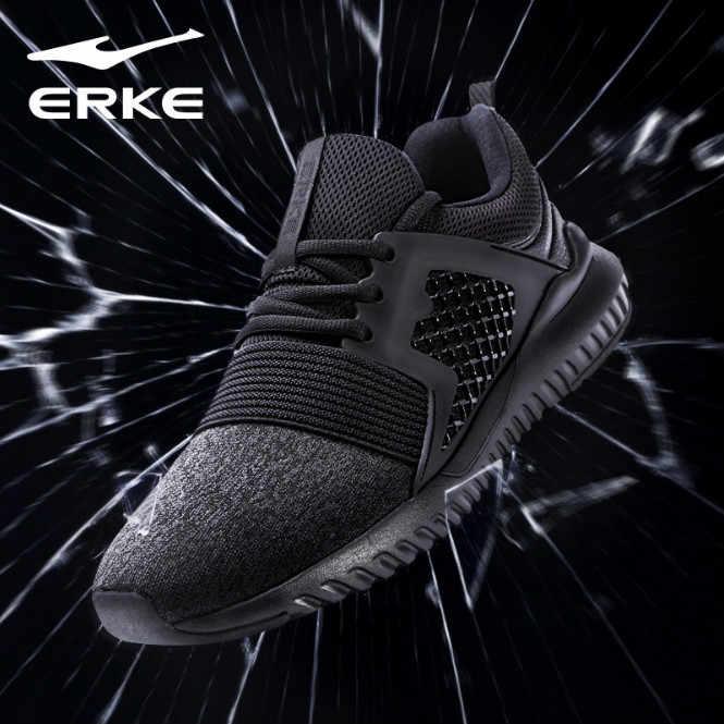 b8bf378fe Ерке Новое поступление Для мужчин кроссовки Обувь с дышащей сеткой мужские  кроссовки спортивная обувь кросс-