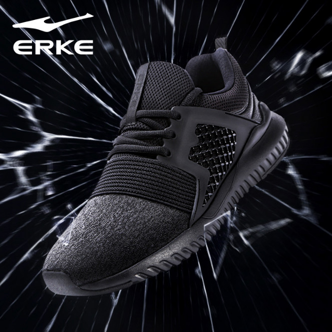 ERKE New Arrival Men Jogging Shoes Breathable Mesh Sneakers Male Sports Shoes Cross Training Shoes Trainers Walking Shoes 2018
