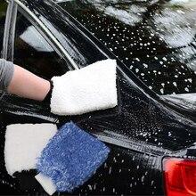 LEEPEE моющиеся перчатки мягкая губка легко использовать автомобиль детализация Авто обслуживание уход за краской Чистка автомобиля