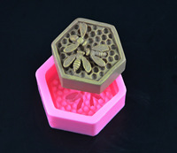 Bee Honeycomb Silicone Soap Molds Fondant Chocolate Cake Mold Resin Clay Candle Moulds DIY Kitchen Baking Cake Tools E925