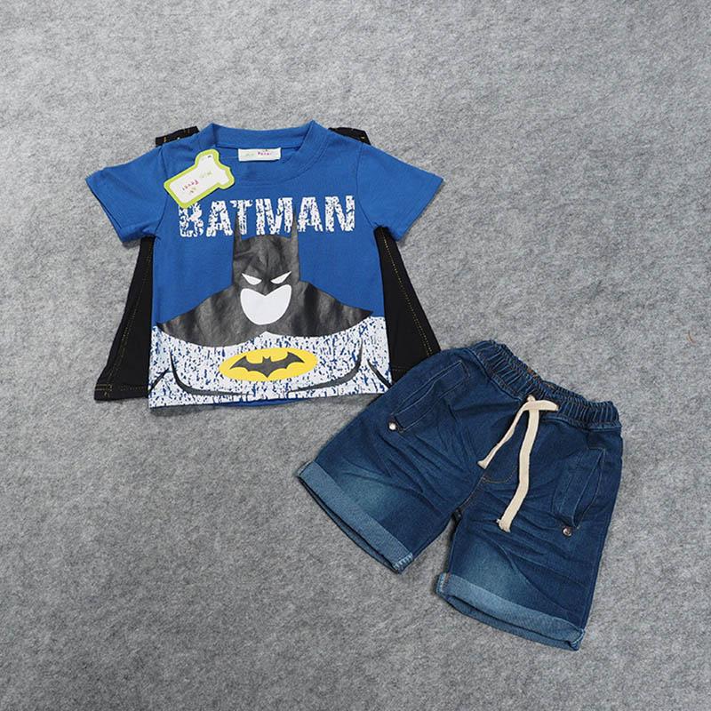 SAMGAMI-BABY-2017-Boys-Batman-Clothing-Cape-Cowboy-Suit-Kid-Apparel-Boys-Summer-Clothing-Set-T-shirt-Short-Denim-Pants-1