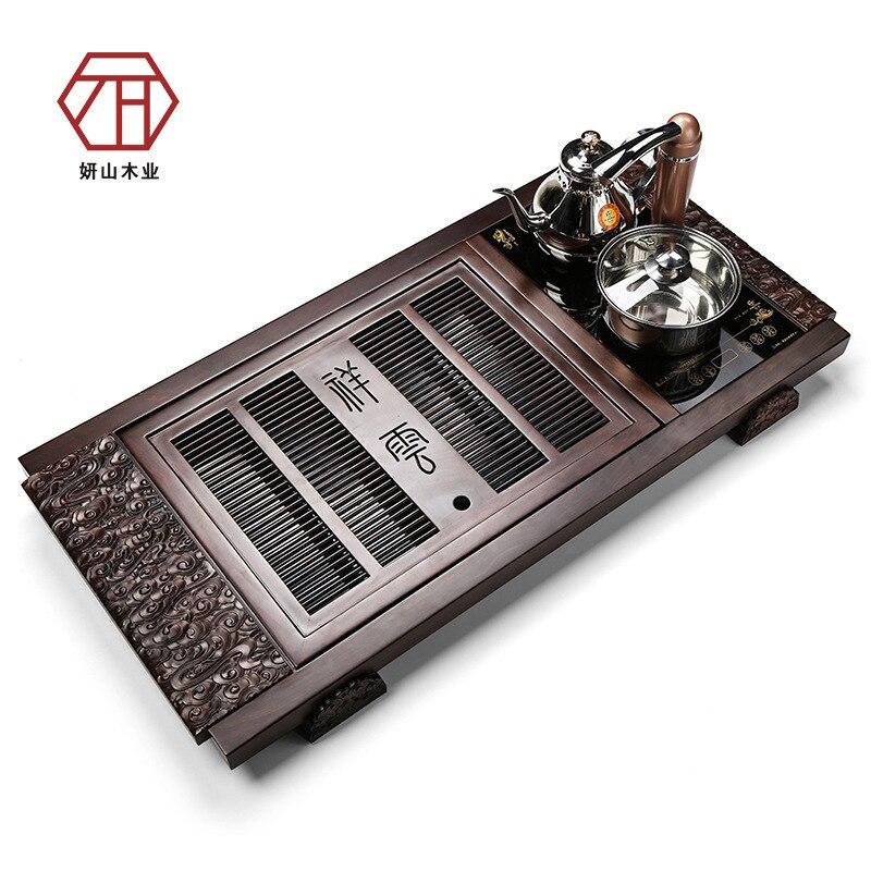 [Yan Mountain] en gros nouveau thé chinois thé thé pour envoyer de grands nuages de bon augure en bois d'ébène peut être équipé d'électromagnétique