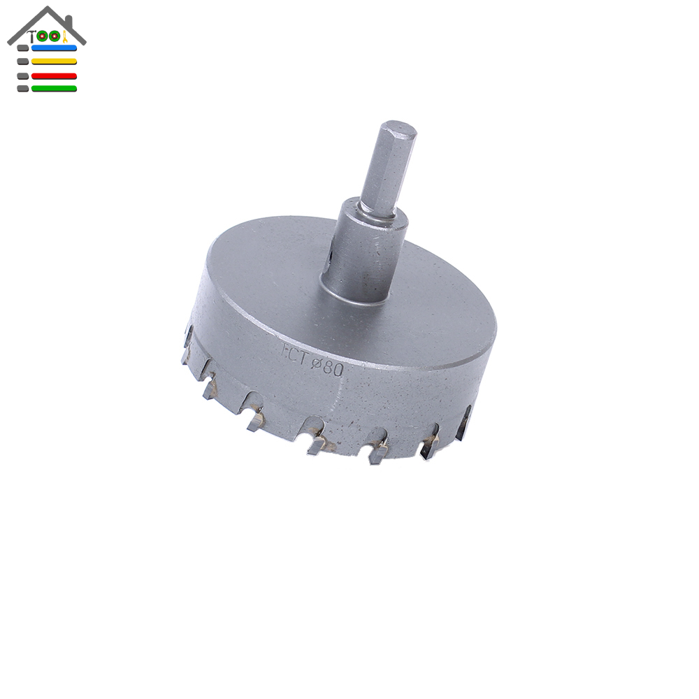 High Quality New 80mm TCT Drill Bit Carbide Tip Stainless Steel Hole Saw Set for Metal Alloy Drilling Core Cutter high quality 120mm stainless steel tct drill bit carbide tip fit hole saw set for metal alloy drilling core cutter big size