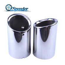 ESPEEDER For Audi Q3 Exhaust Tip Muffler Car Accessory Decoration Car Styling Car Stainless Steel Exhaust Pipes Tips