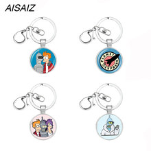 Hot Fashion Futurama key chain charm Punk jewelry Necklaces Pendant for Men Creative gift Neck chains Pendant Gifts for children(China)