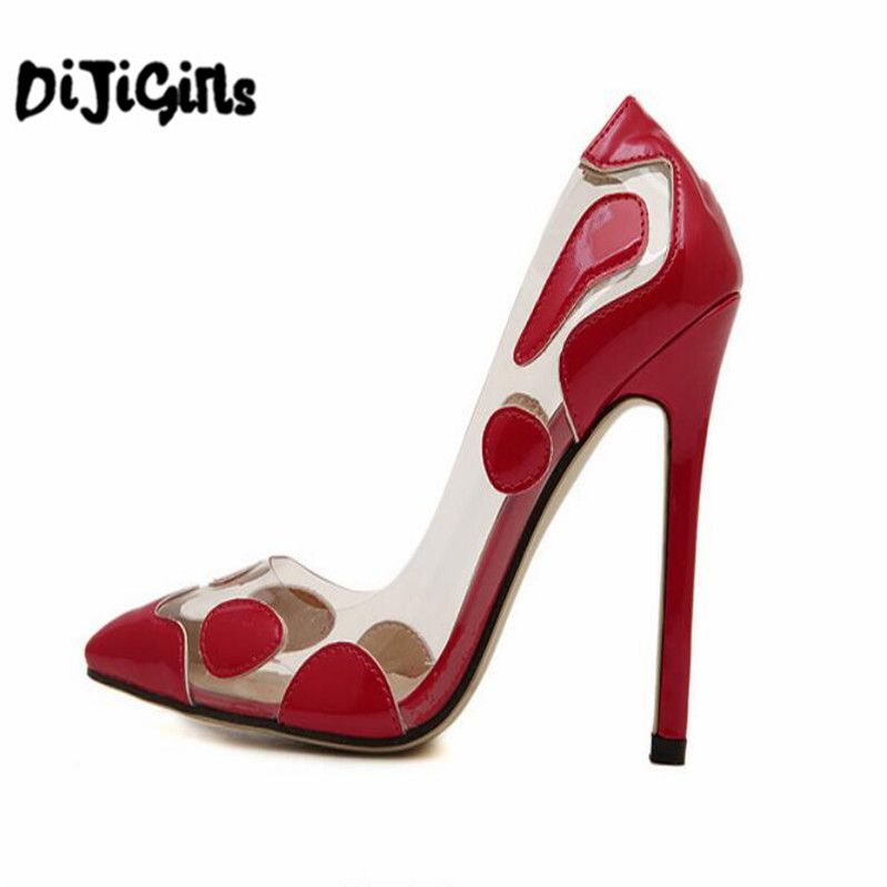 Women Pumps 2018 Hot Sale Sexy Pointed Toe High Heels Shoes Woman Wedding Party Patchwork High Heel Pumps zapatos mujer