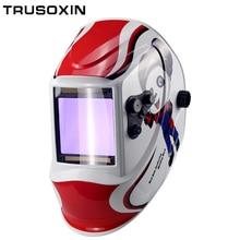 Из управления большой вид eara 4 дуговой датчик DIN5-DIN13 Солнечная Авто Затемнение TIG MIG MMA Сварочная маска/шлем/сварщик крышка/объектив/маска для лица