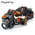 1800Lm led headlight CREE XM-L T6 focus adjustable 5 modes bicycle head lamp outdoor camping headlamp by 2 x 18650