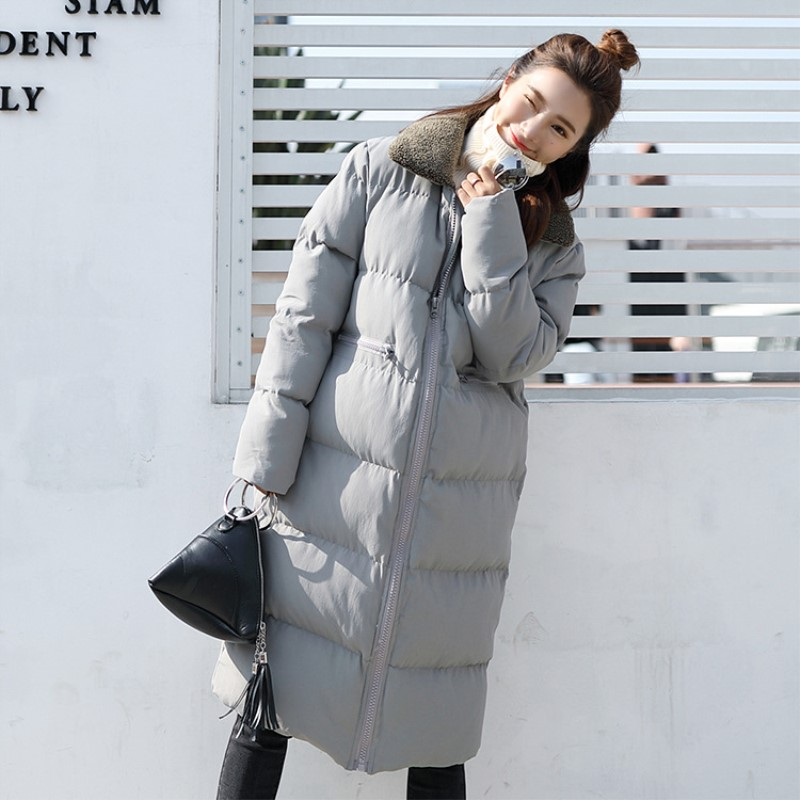 2017 Wadded Jacket Female New Winter Jacket Women Down Cotton Jacket Loose Parkas Ladies Winter Coat Plus Size beibehang modern minimalist mediterranean blue wallpaper living room bedroom wallpaper brown vertical stripes retro background