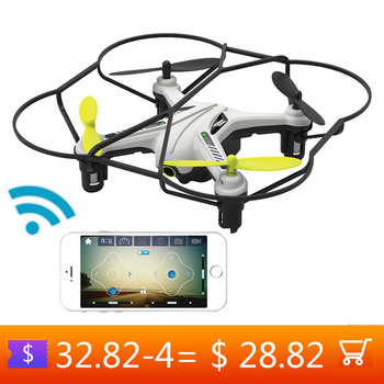 Mobile Phone Control Drone With Camera HD 720P WIFI Mini Quadcopter Headless Altitude Mode brain game Exercise respon for Child