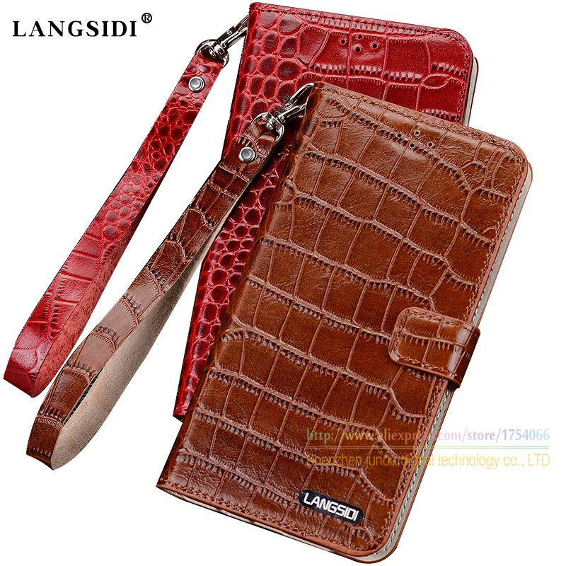 Crocodile Grain Genuine Leather Case For Xiaomi Redmi Note 4X Note4x 5 5 Luxury Phone Wallet