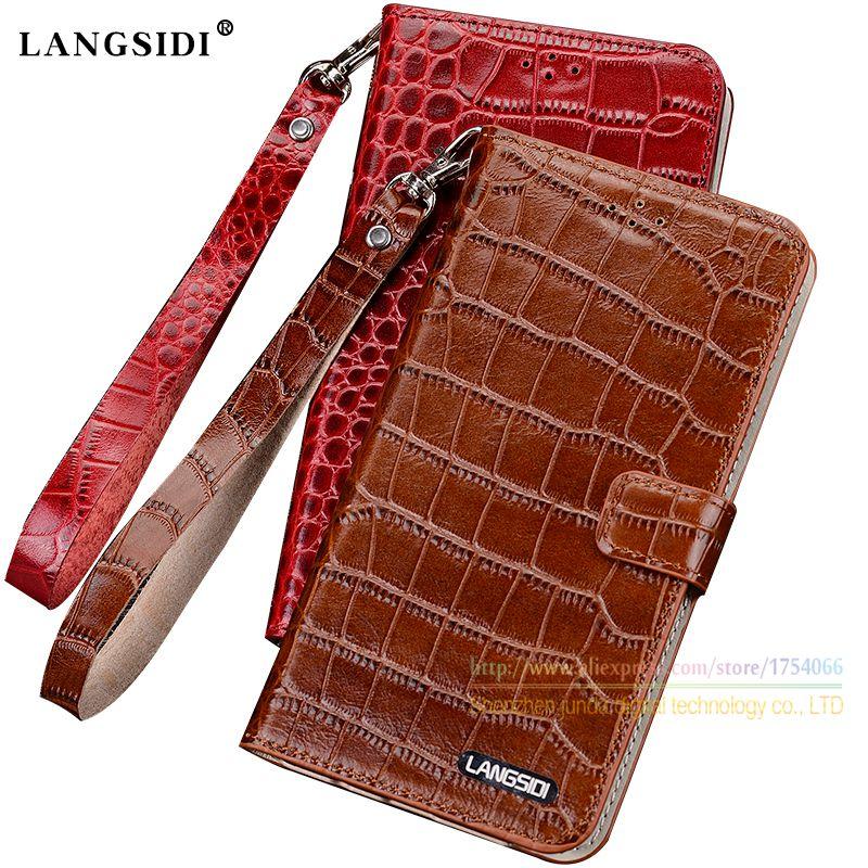 Crocodile Grain Genuine Leather Case For Xiaomi Redmi Note 4X Note4x 5 5 Luxury Phone Wallet