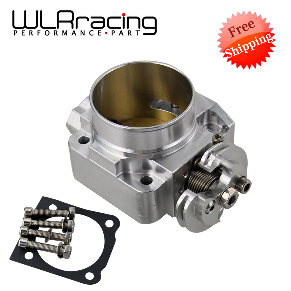 WLR RACING - FREE SHIPPING NEW THROTTLE BODY For Mitsubishi Evo 4 5 6 70mm Uprated Racing Billet Throttle Body WLR6941