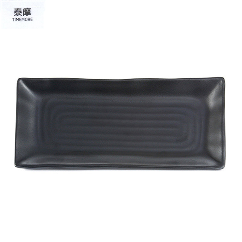 Timemore Black Plate Melamine Sushi Plate High Quality