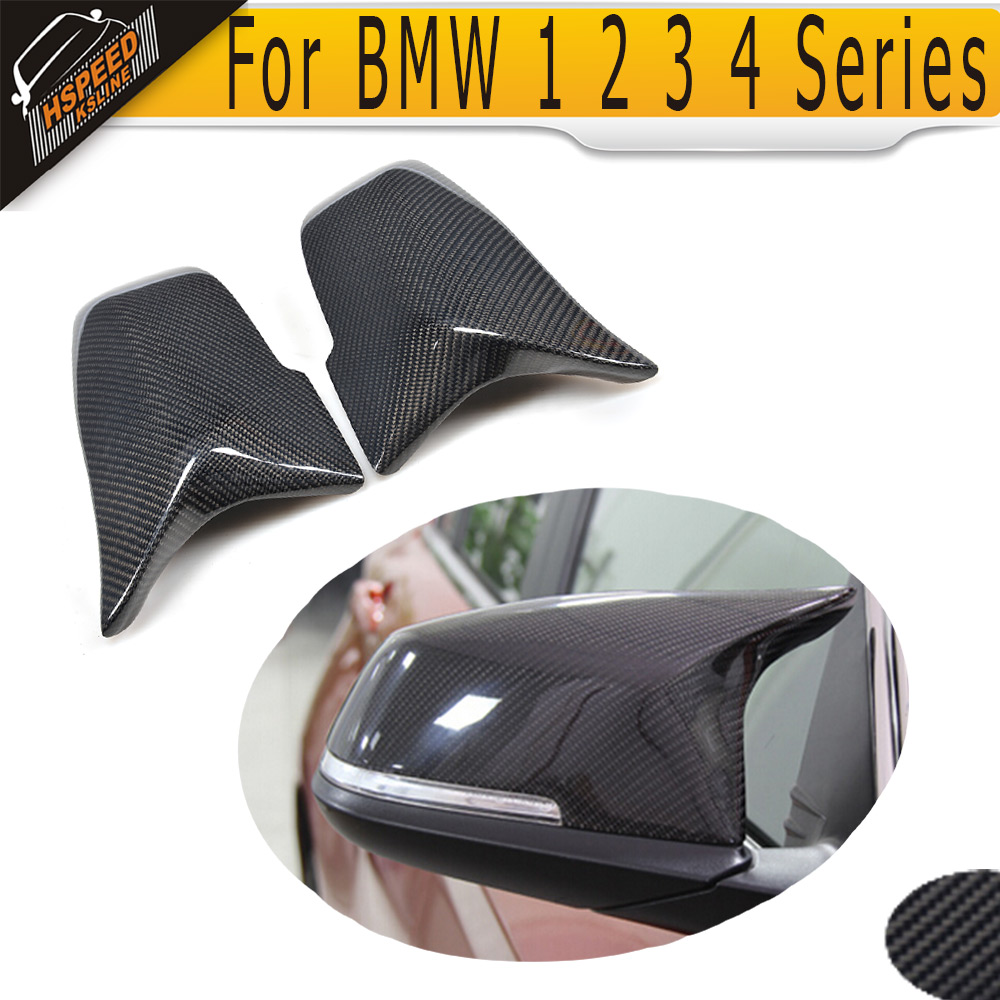 Carbon Fiber Side Mirror Covers Shell for BMW 1 2 3 4 Series F22 F32 F33 F34 GT X1 E84 F20 F21 12-16 F30 F31 12-17 LHD Not M Car car styling for bmw new 1 2 3 4 series gt f30 f31 f34 touring 320i 328i accelerator brake foot rest pedal pads non slip covers