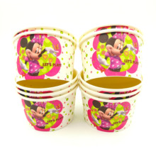 10pcs/lot Minnie Mouse Ice Cream Cup Bowl Disposable Factory Party Supplies