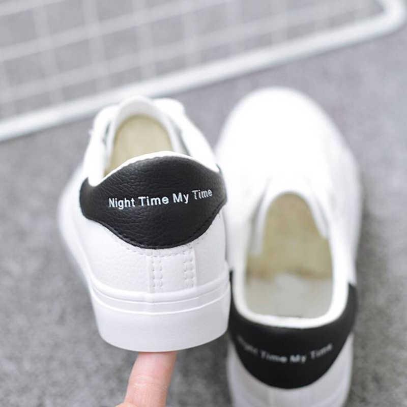 BODENSEE รองเท้าผ้าใบสีขาวรองเท้าผ้าใบรองเท้าผู้หญิงแฟชั่น Vulcanize รองเท้าสบายๆฤดูร้อน Zapatillas Mujer Plus ขนาด 35-42
