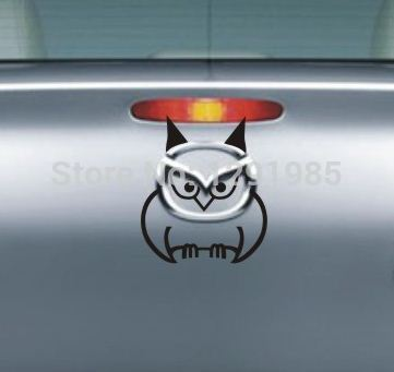 Adhesive owl mazda car sticker waterproof reflective decal vinyl custom made home diy car decoration fashion free shipping in wall stickers from home