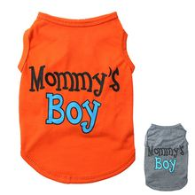 Summer Pet Dog Vest Mommy's Boy Breathable Puppy Cat Clothing for Small Dogs Chihuahua Yorkshire Shirts Pets Products(China)