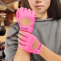 Sports Fitness Glove for Women Gym Bodybuilding Weight Lifting Excise Gloves Hollow Breathable Anti Slip Gym Fingerless Glove