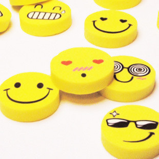 40 rubber pencil eraser smiling face child funny cute expression eraser novelty stationery office supplies school Suppliy